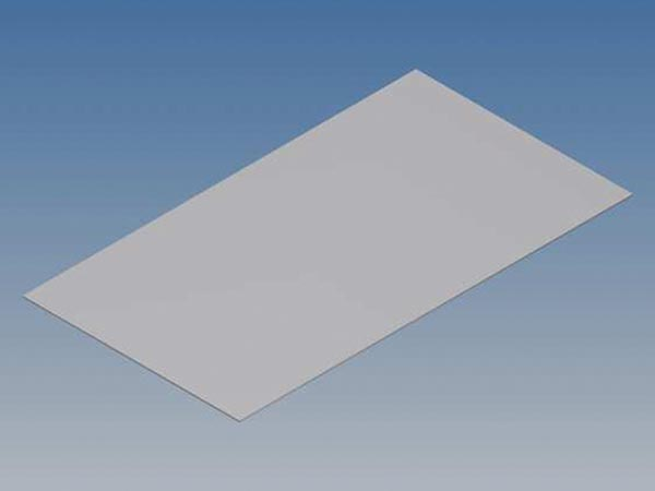 ALUMINIUM PANEL FOR TK SERIES - SILVER - 130.6 x 72 x 0.5 mm