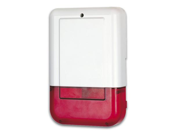 OUTDOOR SIREN WITH STROBE FOR CONCEALED INSTALLATION - WITH BACKUP BATTERY