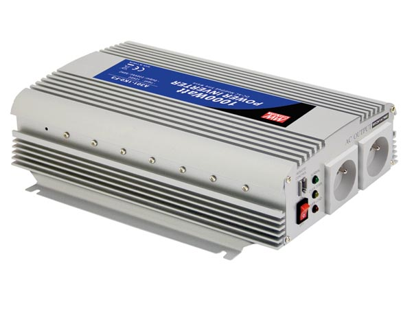 Meanwell - Modified Sine Wave Dc-ac Power Inverter - 12v - 1000w - French Socket