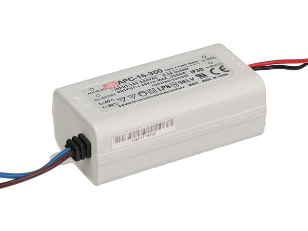 CONSTANT CURRENT LED DRIVER - SINGLE OUTPUT - 350 mA - 16 W
