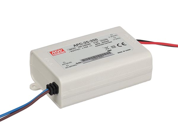 CONSTANT CURRENT LED DRIVER - SINGLE OUTPUT - 350 mA - 25 W