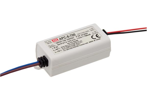 Constant Current LED Driver - Single Output - 700ma - 7.7w