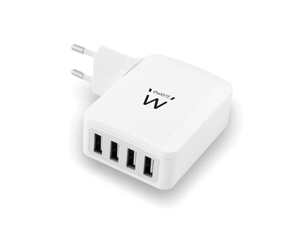 EWENT - 4 PORT USB SMART CHARGER 5.4 A