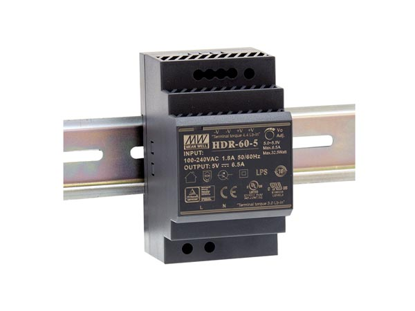 60 W SINGLE OUTPUT INDUSTRIAL DIN RAIL POWER SUPPLY 24 V 2.5 A