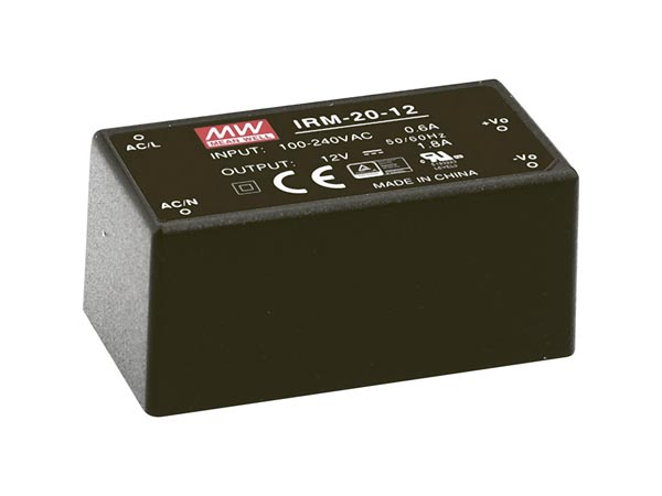 MEAN WELL - 20 W SINGLE OUTPUT ENCAPSULATED TYPE - 5 V
