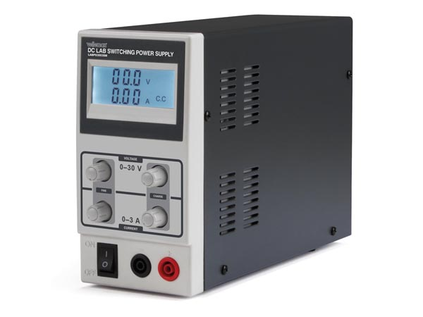 DC LAB SWITCHING MODE POWER SUPPLY 0-30 VDC / 0-3 MAX WITH LCD DISPLAY
