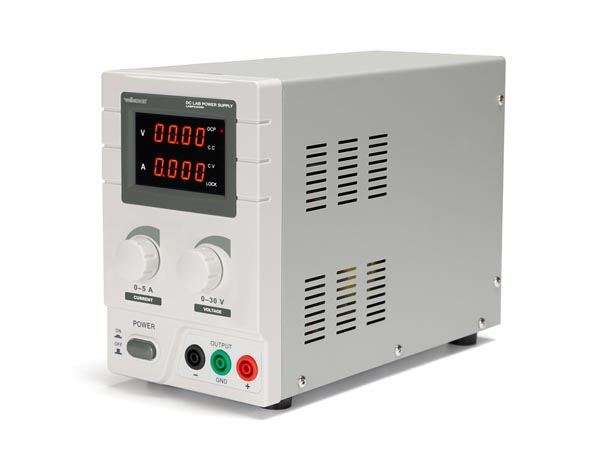 DC LAB POWER SUPPLY 0-30 VDC / 0-5 A MAX WITH DUAL LED DISPLAY