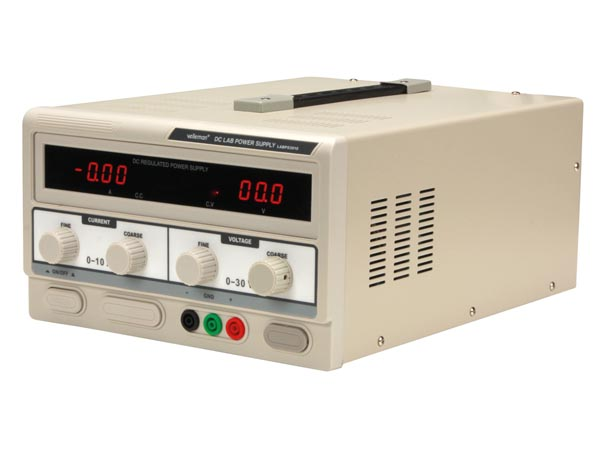 DC LAB POWER SUPPLY 0-30 VDC / 0-10 A MAX WITH DUAL LED DISPLAY