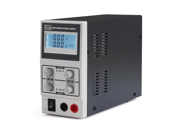 DC LAB SWITCHING MODE POWER SUPPLY 0-30 VDC / 0-10 A MAX WITH LCD DISPLAY