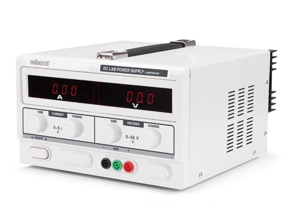 DC LAB POWER SUPPLY 0-50 VDC / 0-5 A MAX WITH DUAL LED DISPLAY