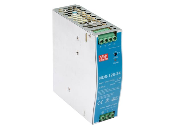 120 W SINGLE OUTPUT INDUSTRIAL DIN RAIL POWER SUPPLY 24 V 5 A