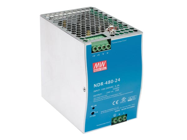 480 W SINGLE OUTPUT INDUSTRIAL DIN RAIL POWER SUPPLY 24 V 20 A