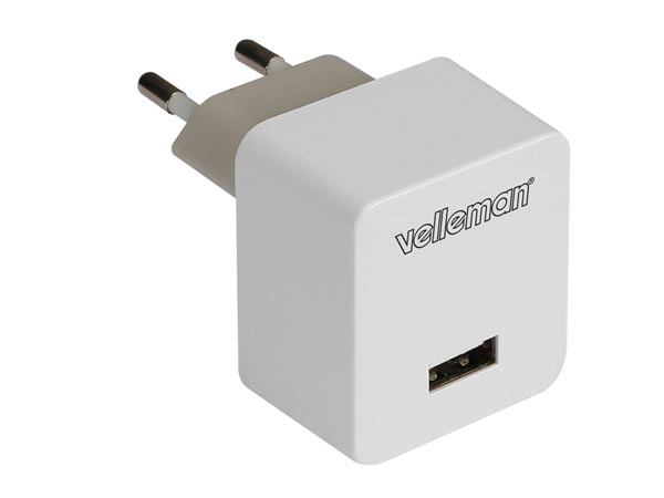 COMPACT CHARGER WITH USB OUTPUT 5 VDC - 2.4 A