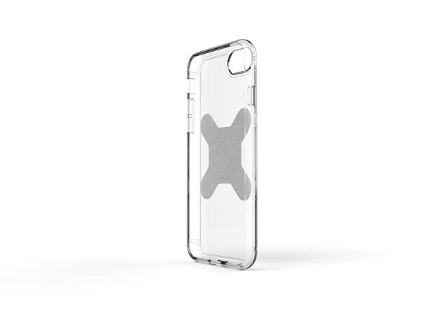 EXELIUM - MAGNETIZED PROTECTIVE CASE FOR WIRELESS CHARGING - iPhone® 8 - TRANSPARENT