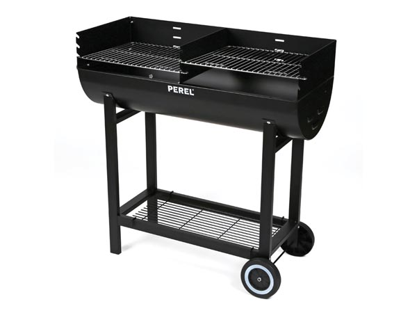 bb100110 barbecue party barrel grill black velleman. Black Bedroom Furniture Sets. Home Design Ideas