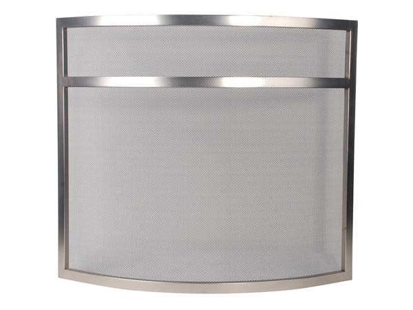Fireplace Screen - 72 X 63 Cm - Stainless Steel
