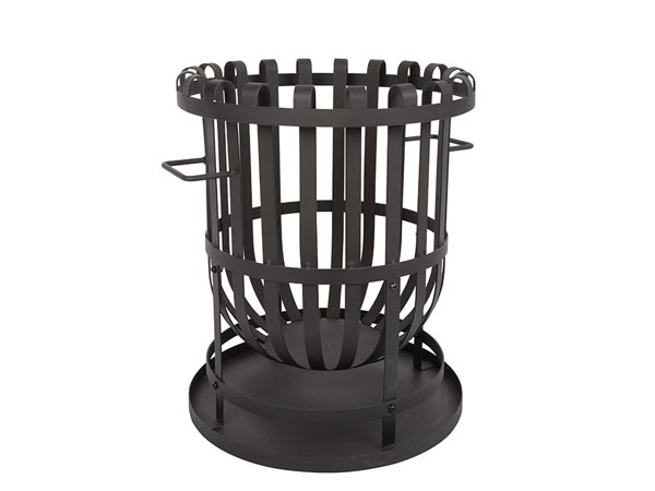 Fire Basket With Ash Plate - Heavy