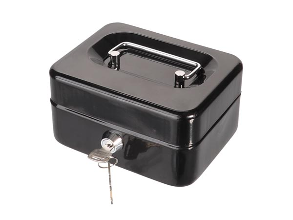 Cash Box - With Removable Coin Tray - 11.5 X 15.5 X 8 Cm