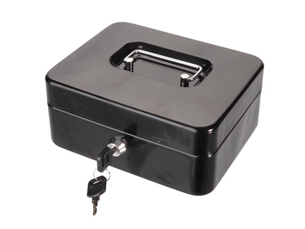 Cash Box - With Removable Coin Tray - 16 X 20 X 9 Cm
