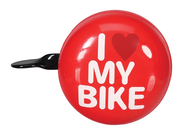 Bicycle Bell - 'i Love My Bike' - 8 Cm - Red