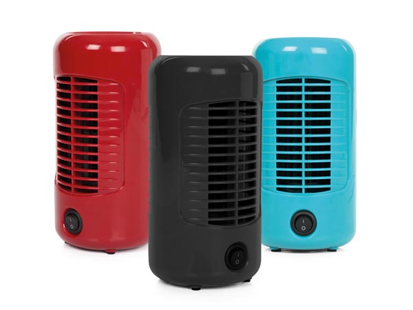 Display With 3 Fans - 10 Cm X H 20 Cm - Red - Black - Blue