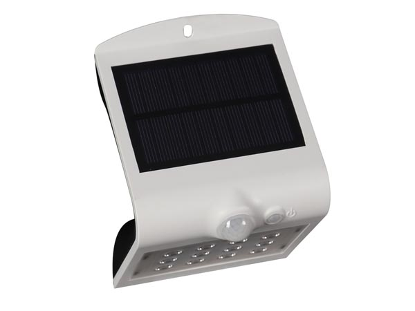 SOLAR LED WALL LIGHT WITH PIR SENSOR - 1.5 W - WHITE