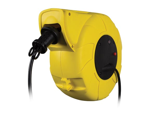 Auto-rewind Cable Reel - Wall Mount - 13+2 M - Schuko