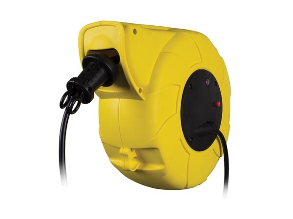 Auto-rewind Cable Reel - Wall Mount - 13+2 M