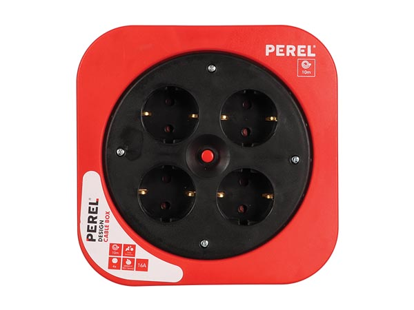 Design Cable Box - Red - 10 M - German Socket
