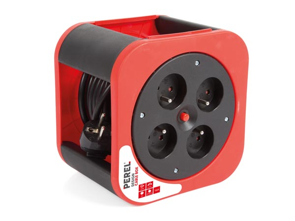 Design Cable Box - Red - 10 M - French Socket