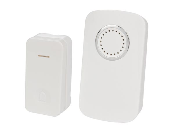 Wireless Battery Operated Door Bell Kit With 1 Kinetic Push Button
