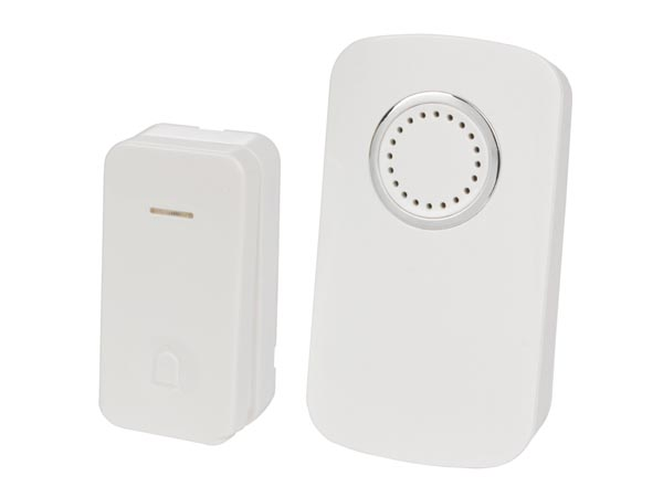 Wireless Plug-in Door Bell Kit With 1 Kinetic Push Button