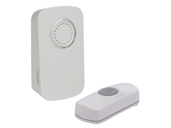 Wireless Battery Operated Door Bell Kit With 1 Push Button