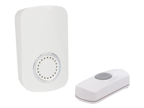 Wireless Plug-in Door Bell Kit With 1 Push Button
