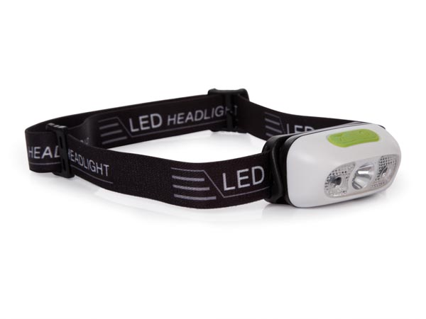 RECHARGEABLE LED HEADLIGHT WITH ON/OFF SENSOR