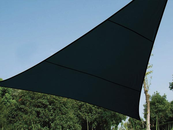 Water-permeable Shade Sail - Triangle - 3.6 X 3.6 X 3.6 M - Colour: Charcoal