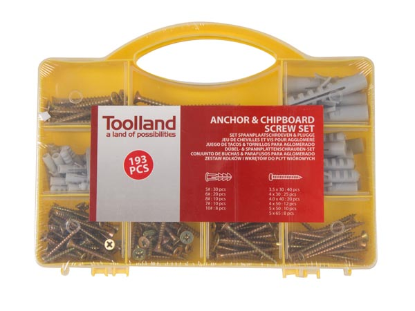 ANCHOR & CHIPBOARD SCREW SET - 193 pcs