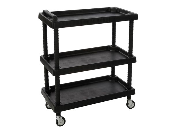 TOOL TROLLEY - 3 TRAYS - 75 x 37.5 x 92 cm