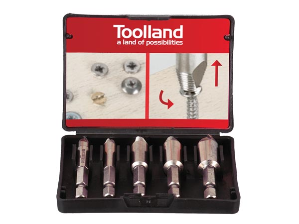 DAMAGE SCREW REMOVER BIT SET - 5 pcs