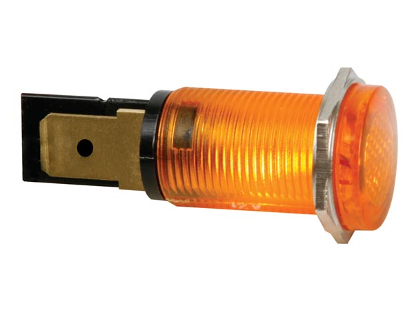 ROUND 14mm PANEL CONTROL LAMP 220V AMBER