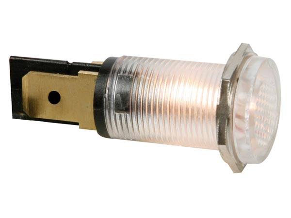 ROUND 14mm PANEL CONTROL LAMP 220V CLEAR