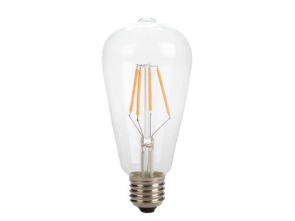 Antique LED Filament Bulb - St64 - 4w - E27 - Intense Warm White