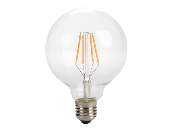 Antique LED Filament Bulb - G95 - 4w - E27 - Intense Warm White
