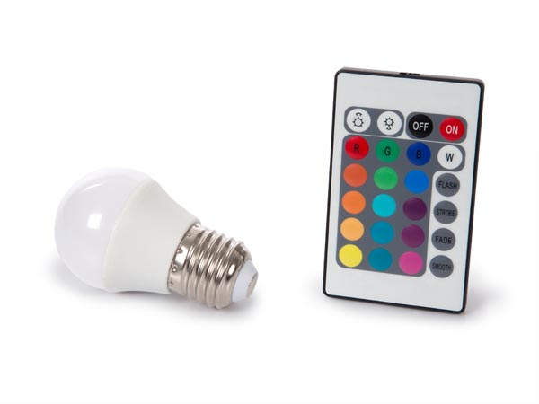 Led Lamp - 4 W - E27 - RGB & Warm White