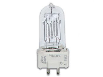 Halogen Lamp PhilIPS 500w / 240v, Gy9.5, 2800k, 75h (7389)