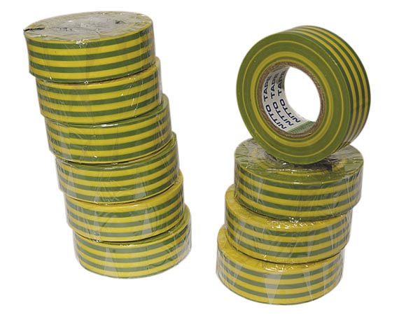 Insulation Tape - Green/Yellow - 19 mm x 10 m
