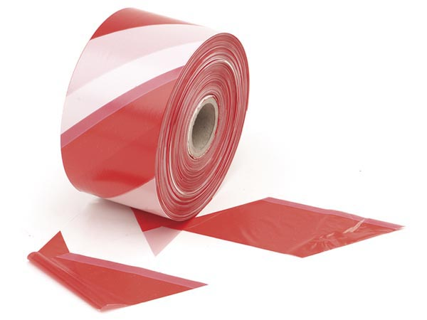 Safety Tape Red/white - 500m