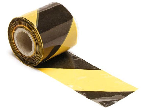 Safety Tape Black/yellow - 250m