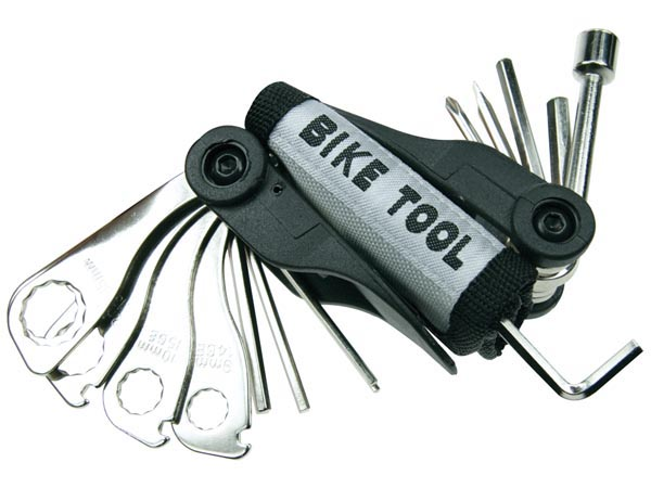 BICYCLE TOOL KIT WITH BELT POUCH - 15 pcs