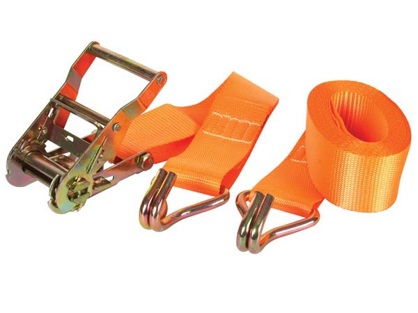 RATCHET TIE-DOWN WITH HOOKS - MAX. 1000kg - 4.5m x 50mm